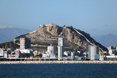 Skyline of Alicante, Catalonia Spain Stock Images