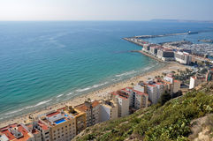 Skyline of Alicante (Spain) Royalty Free Stock Images