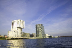 Skyline of Almere. Modern city in the Netherlands Stock Photos