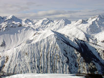 Skyline alpina da montanha Fotos de Stock Royalty Free