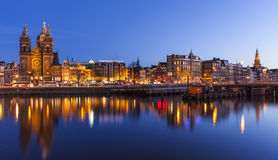 Skyline of Amsterdam Royalty Free Stock Images