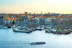 Skyline of Amsterdam Royalty Free Stock Photos