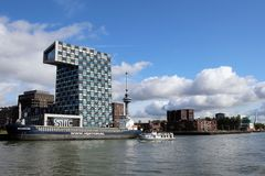 Free Skyline And Harbor Of Rotterdam Netherlands Royalty Free Stock Photo - 159761885