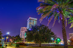 Skyline And River Coast Scenes In Jacksonville Florida Stock Photography