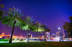 Skyline And River Coast Scenes In Jacksonville Florida Royalty Free Stock Photos