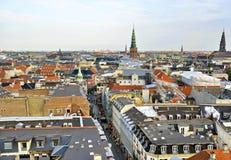 Skyline-Ansicht Dänemarks Kopenhagen Stockbilder