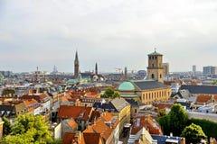 Skyline-Ansicht Dänemarks Kopenhagen Lizenzfreie Stockbilder