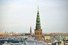 Skyline-Ansicht Dänemarks Kopenhagen Lizenzfreie Stockfotos