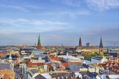 Skyline-Ansicht Dänemarks Kopenhagen Lizenzfreies Stockfoto
