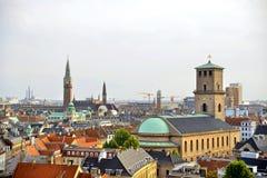 Skyline-Ansicht Dänemarks Kopenhagen Stockbild