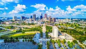 Skyline-Antenne Atlantas, Georgia, USA stockfotografie