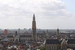 Skyline of Antwerp Royalty Free Stock Photography