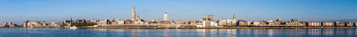 Skyline of Antwerp Royalty Free Stock Image