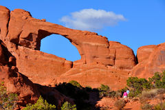 Skyline Arch. In Arches National Park in Utah Stock Photos