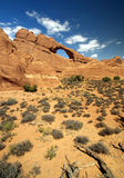 Skyline Arch in Arches National Park Stock Photography