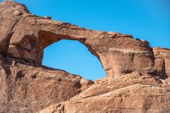 Skyline Arch in Arches National Park, Utah.  Royalty Free Stock Photos