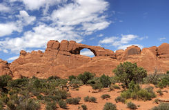 Skyline Arch in Arches National Park Royalty Free Stock Images
