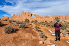 Skyline arch, Arches NP stock images