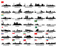 Skyline of Asian Cities. Set skyline of Asian Cities