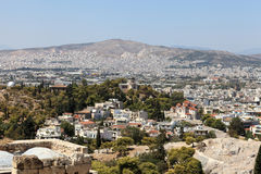 Skyline of Athens from Acropolis Stock Images