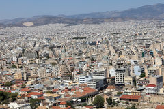 Skyline of Athens city from Acropolis Stock Image