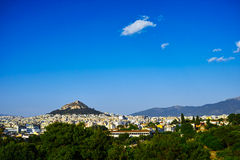 Skyline of Athens Stock Images