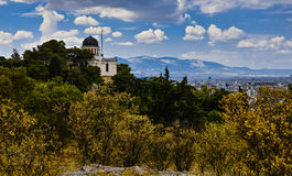 Skyline of Athens Royalty Free Stock Photography