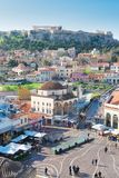 Skyline of Athenth with Acropolis hill Royalty Free Stock Photography
