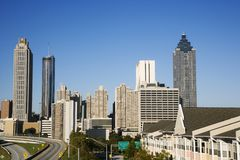 Skyline of Atlanta Stock Photography