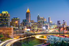 Skyline Atlanta-, Georgia Stockfoto
