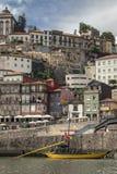 Skyline através do rio de Douro, Porto Imagem de Stock
