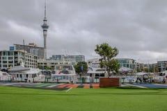 Skyline of Auckland stock photo