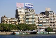 : Skyline auf dem Nil Stockbild