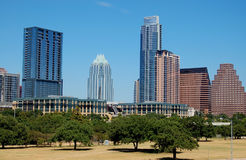 Skyline in austin, texas. Skyline of cbd in austin, texas Royalty Free Stock Images