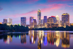 Skyline Austin-Texas Stockfoto