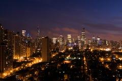 Skyline azul Imagem de Stock Royalty Free