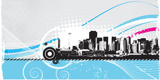 Skyline background . Vector art Royalty Free Stock Photo