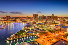 Skyline Baltimores Maryland Stockfoto