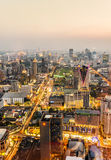 Skyline of Bangkok during rushhour Royalty Free Stock Photography