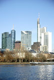 Skyline banking district Frankfurt Royalty Free Stock Photos