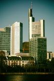 Skyline banking district Frankfurt Royalty Free Stock Photo