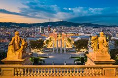 Skyline of Barcelona, Spain Stock Photo