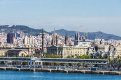 Skyline of Barcelona Royalty Free Stock Photos