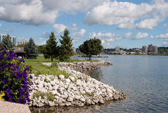 Skyline of Barrie in Ontario Stock Images
