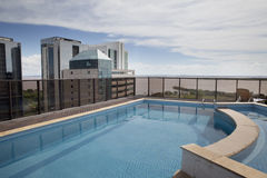 Skyline Bay. Hotel pool on the roof Stock Photography