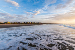 Skyline of Beach Homes at Ise of Palms Beach, in Charleston Sout. Skyline of Beach.  Homes at Ise of Palms Beach, in Charleston South Carolina at Sunrise Royalty Free Stock Photo