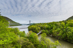 Skyline of Bear Mountain State park From Fort Montgomery in Upst Royalty Free Stock Image