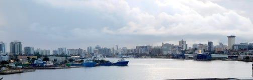 Skyline of Beautiful San Juan Puerto Rico stock images