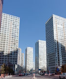 Skyline of Beijing CBD Stock Photography