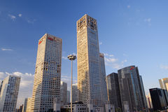 Skyline of Beijing CBD in the morning Royalty Free Stock Photography